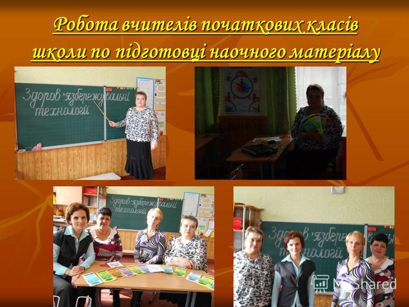 Робота вчителів початкових класів школи по підготовці наочного матеріалу
