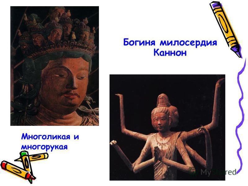 Многоликая и многорукая Богиня милосердия Каннон