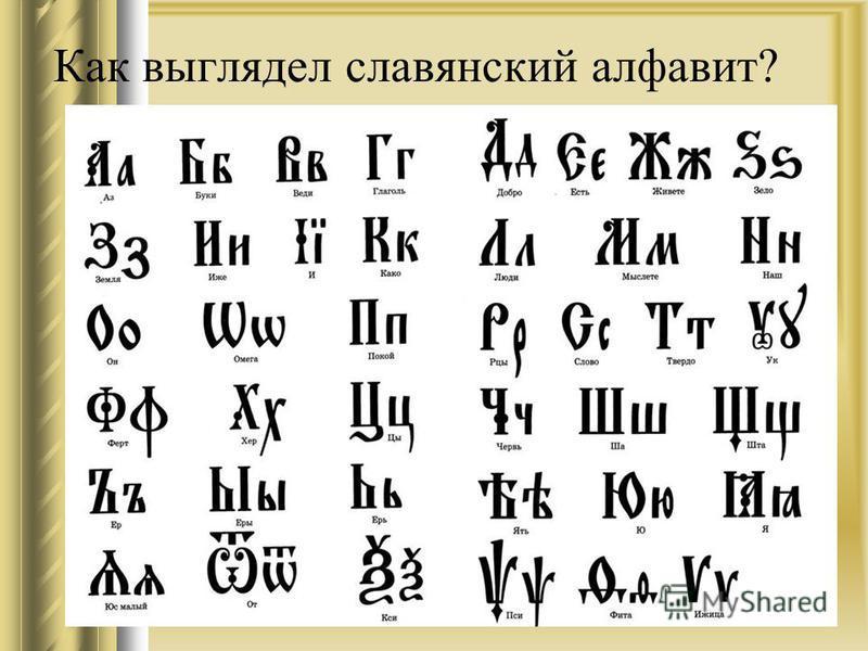 Как выглядел славянский алфавит?