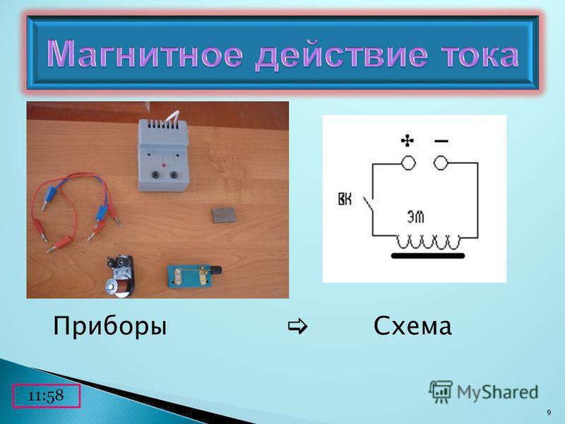 Приборы Схема 12:00 9