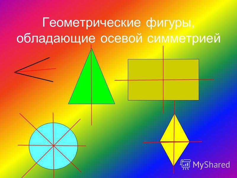 Геометрические фигуры, обладающие осевой симметрией