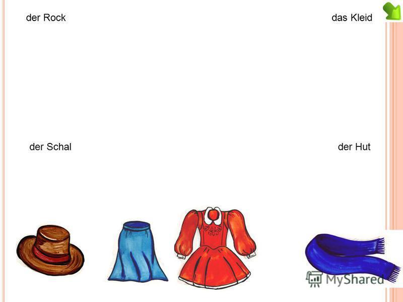 der Rockdas Kleid der Schalder Hut
