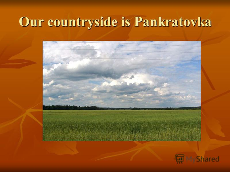Our countryside is Pankratovka