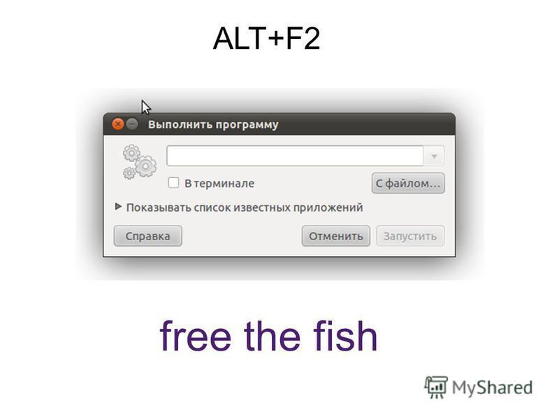 ALT+F2 free the fish