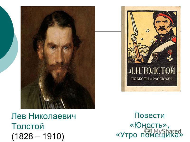 Лев Николаевич Толстой (1828 – 1910) Повести «Юность», «Утро помещика»