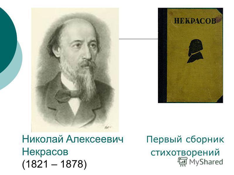 Николай Алексеевич Некрасов (1821 – 1878) Первый сборник стихотворений