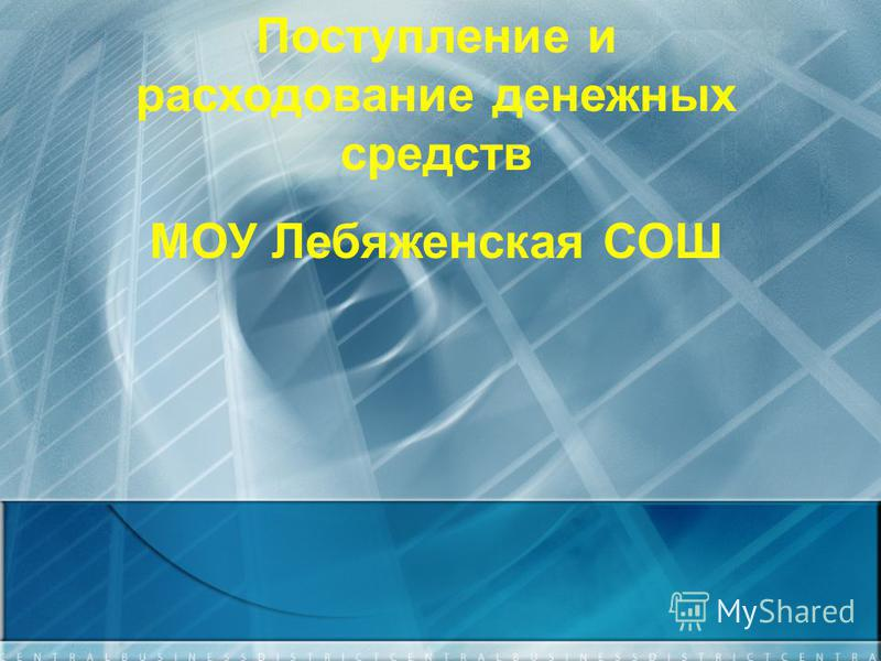 Поступление и расходование денежных средств МОУ Лебяженская СОШ