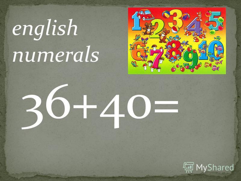 english numerals 14-1=