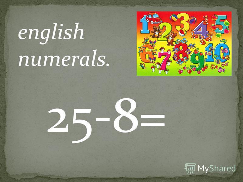 english numerals. 12+6=