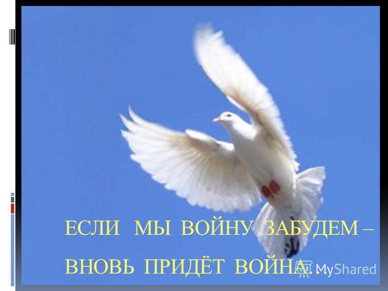 ЕСЛИ МЫ ВОЙНУ ЗАБУДЕМ – ВНОВЬ ПРИДЁТ ВОЙНА…