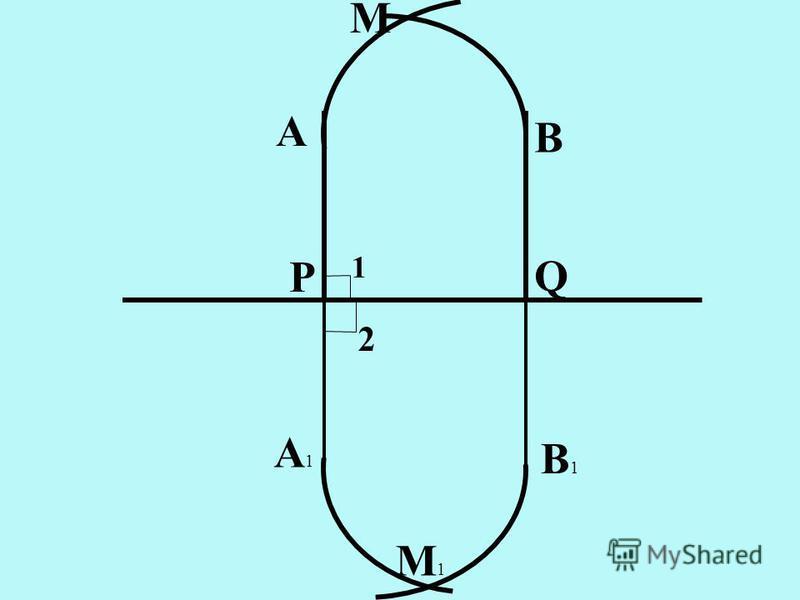 Р Q A B M A1A1 B1B1 M1M1 1 2