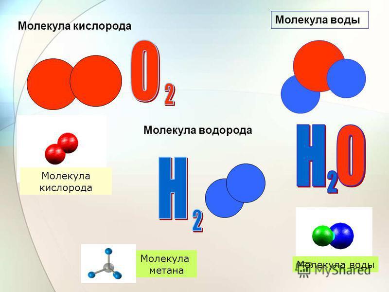 Атомы – частицы, из которых состоят молекулы Атом кислорода – О Атом водорода – Н Атом углерода – С