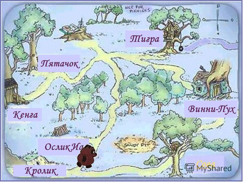 Тигра Винни-Пух Ослик Иа Пятачок Кенга Сова Кролик