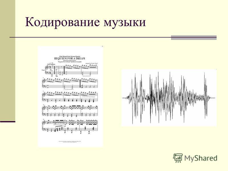Кодирование музыки