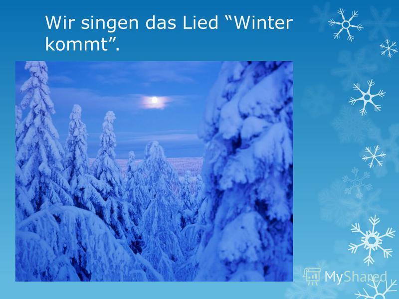 Wir singen das Lied Winter kommt.