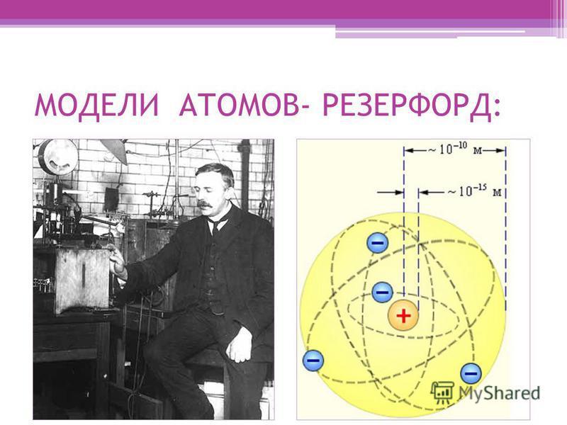 МОДЕЛИ АТОМОВ- РЕЗЕРФОРД: