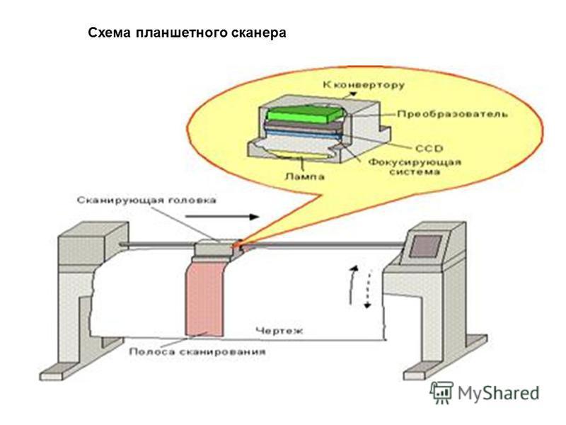 Схема планшетного сканера