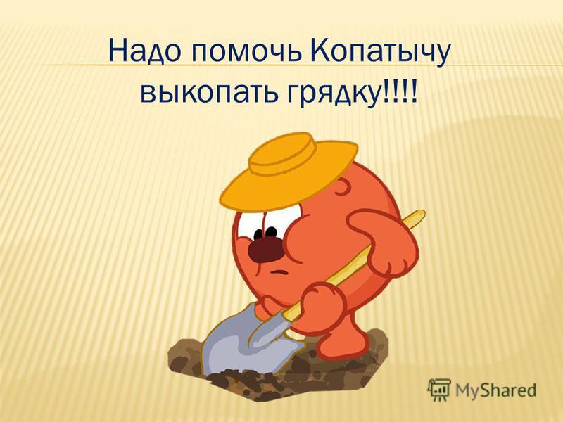 Надо помочь Копатычу выкопать грядку!!!!