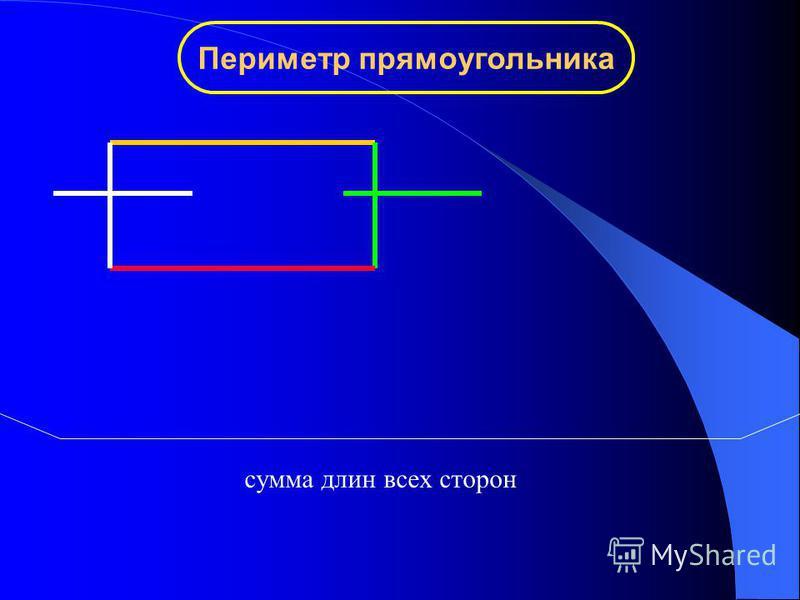 Периметр прямоугольника сумма длин всех сторон