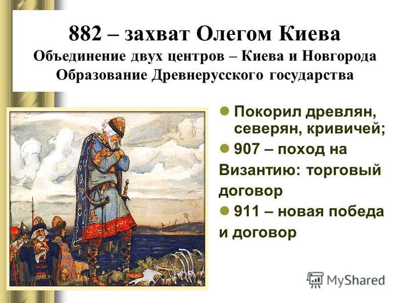 862 – призвание Рюрика в Новгород. Братья Рюрика – Синеус и Трувор приглашены в Изборск и Белоозеро