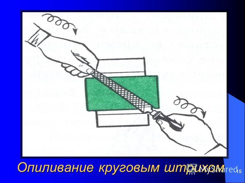 15 Опиливание круговым штрихом