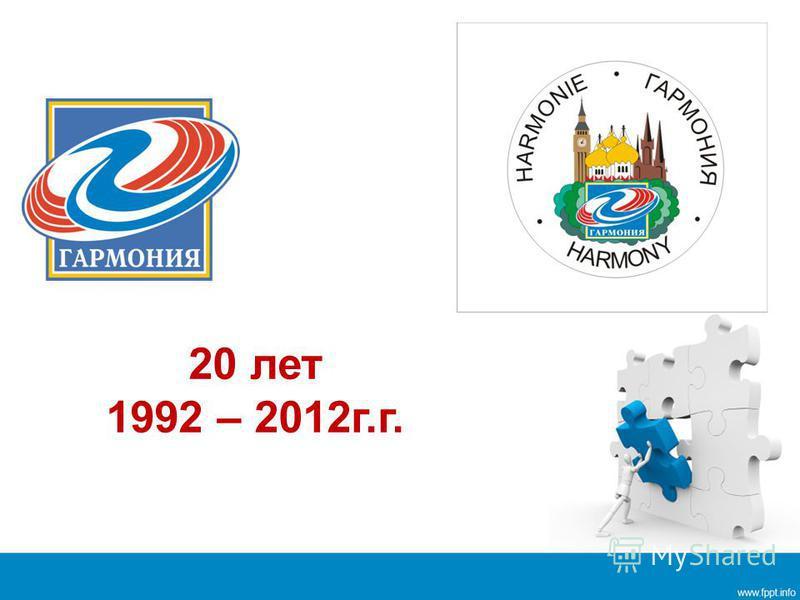 20 лет 1992 – 2012 г.г.