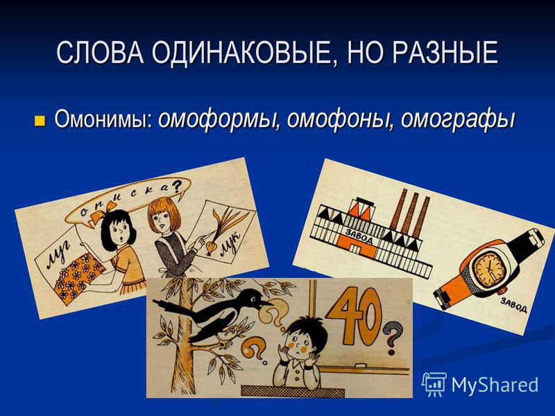 СЛОВА ОДИНАКОВЫЕ, НО РАЗНЫЕ Омонимы: омоформы, омофоны, омографы Омонимы: омоформы, омофоны, омографы