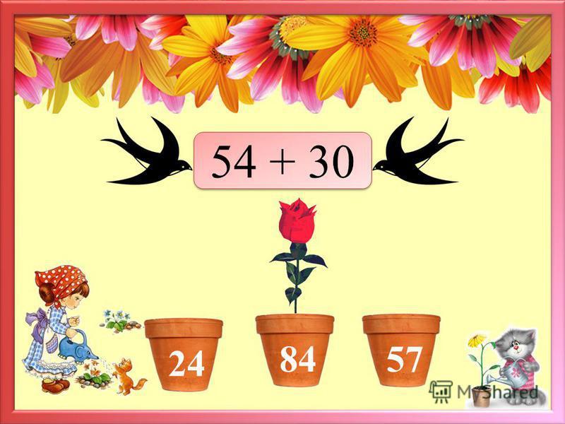 Дорогой друг! Предлагаю тебе собрать букет цветов для самого близкого и дорогого человека – мамы. Решай примеры и жми мышкой на цветочный горшочек с правильным ответом. Если задание выполнено верно – вырастет цветок. Переход к следующему слайду по ка
