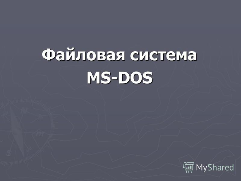 Файловая система MS-DOS