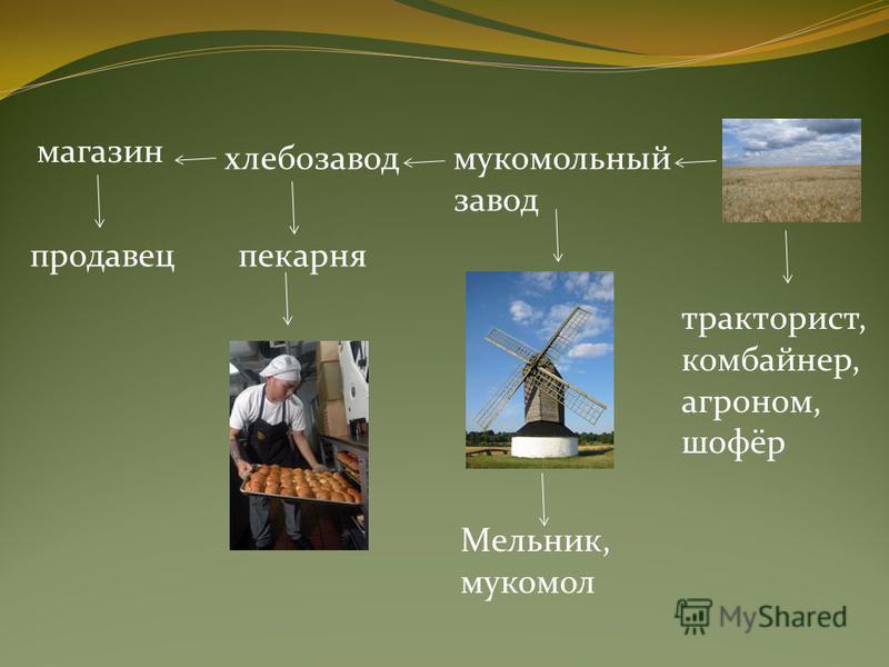 хлебозавод продавец магазин мукомольный завод пекарня Мельник, мукомол тракторист, комбайнер, агроном, шофёр