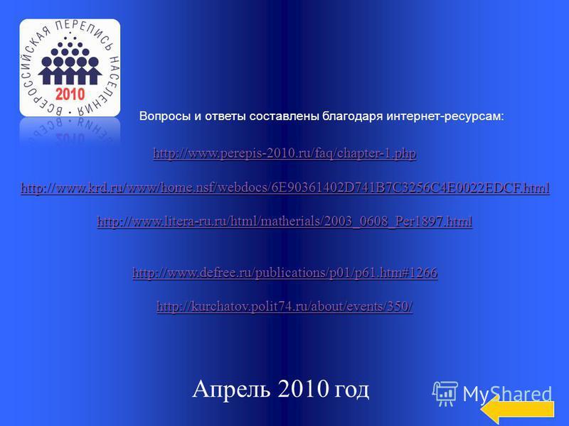 Категория 5 Категория 5 за 500 132 млн. человек Назовите прогнозируемую численность населения России в 2010 году.