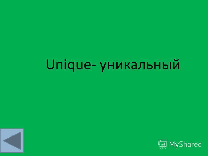 Unique- уникальный