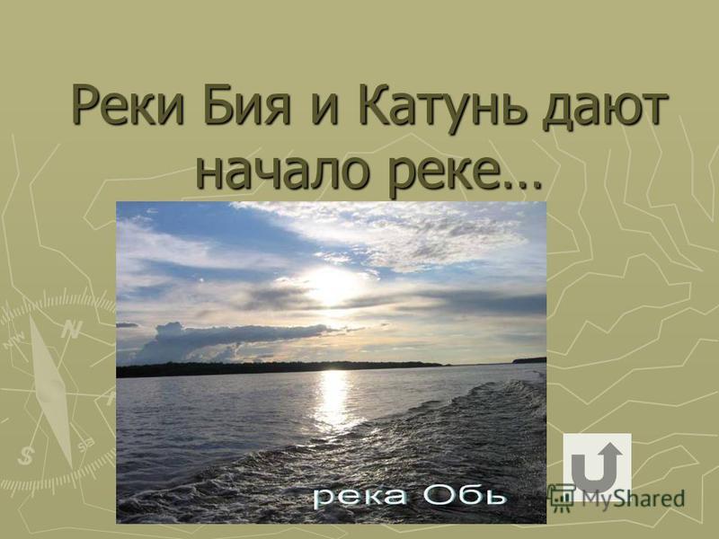 Реки Бия и Катунь дают начало реке…