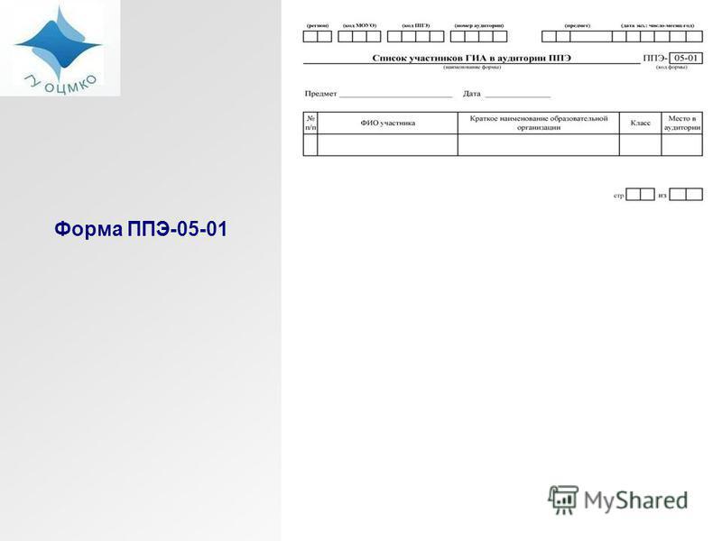 Форма ППЭ-05-01