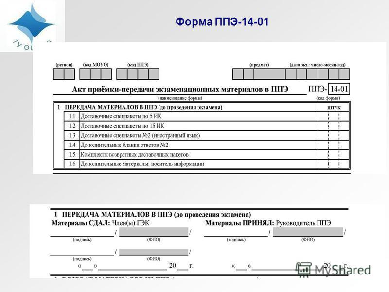 Форма ППЭ-14-01