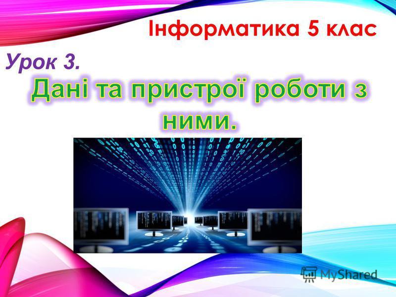 Інформатика 5 клас Урок 3.