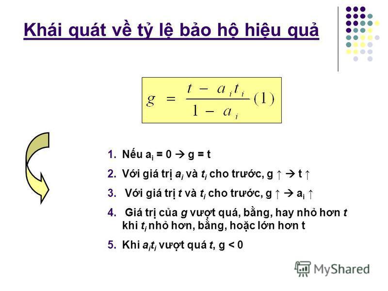 T l bo h hiu qu Trong ví d nêu trên, t = 10% hay 0,1, a i = 0,8 và t i = 0 Nu áp dng thu nhp khu 5% đi vi các yu t đu vào (nghĩa là t i = 0.05) thì Nu t i = 10%, Vi t i = 20%,