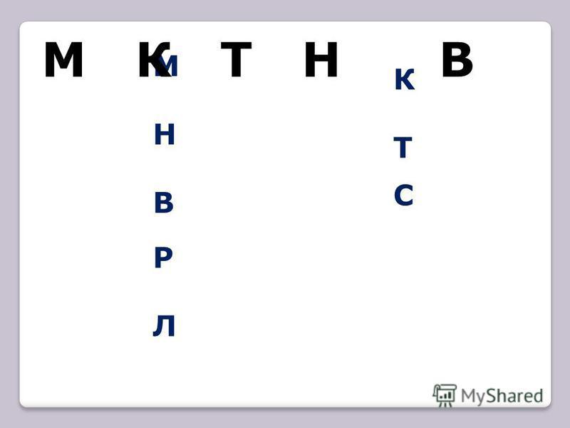 МНВМНВ КТКТ РЛРЛ С М К Т Н В