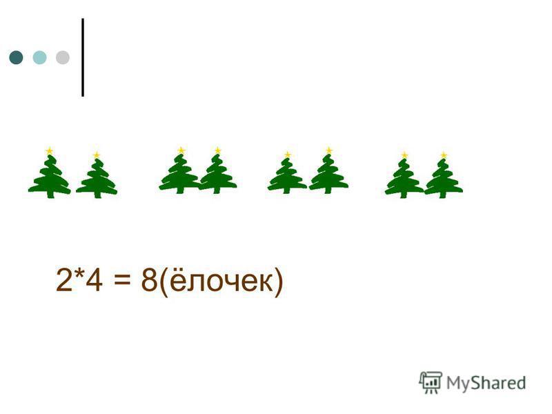 2*4 = 8(ёлочек)