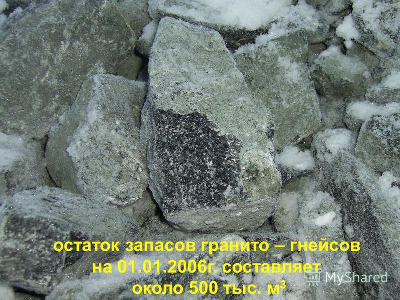 Чертёж участка под расширение карьера ДРСУ Масштаб 1 : 25 000 мрамор остаток запасов гранита – гнейсов на 01.01.2006 г. составляет около 500 тыс. м 3
