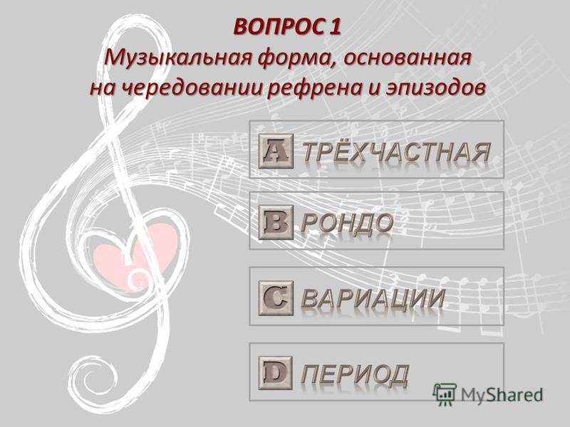 Музыкальная форма 1 ТУР
