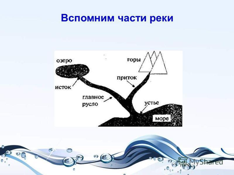 Вспомним части реки