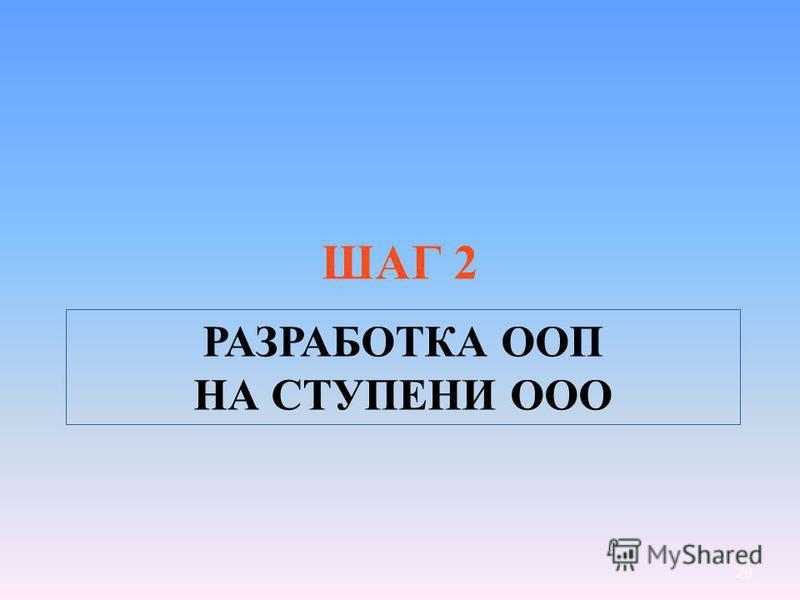 29 РАЗРАБОТКА ООП НА СТУПЕНИ ООО ШАГ 2