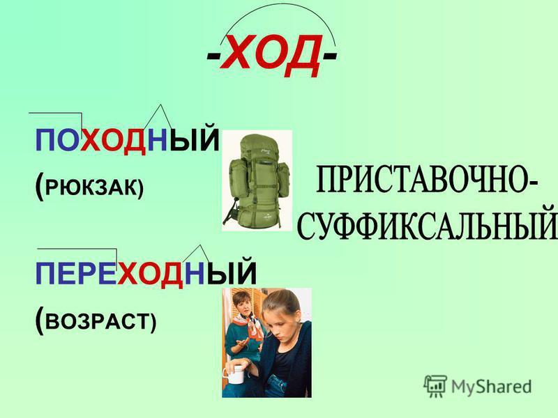 -ХОД- ПОХОДНЫЙ ( РЮКЗАК) ПЕРЕХОДНЫЙ ( ВОЗРАСТ)