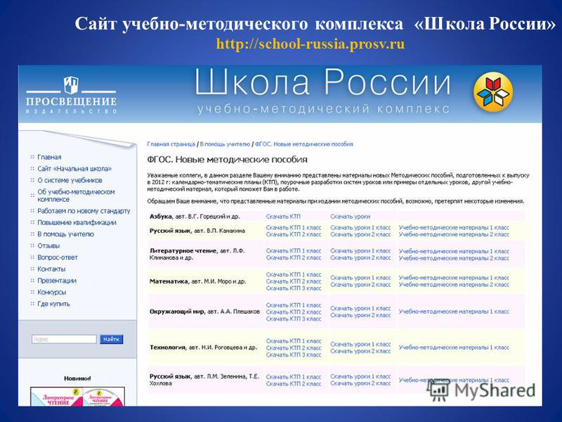 Сайт учебно-методического комплекса «Школа России» http://school-russia.prosv.ru