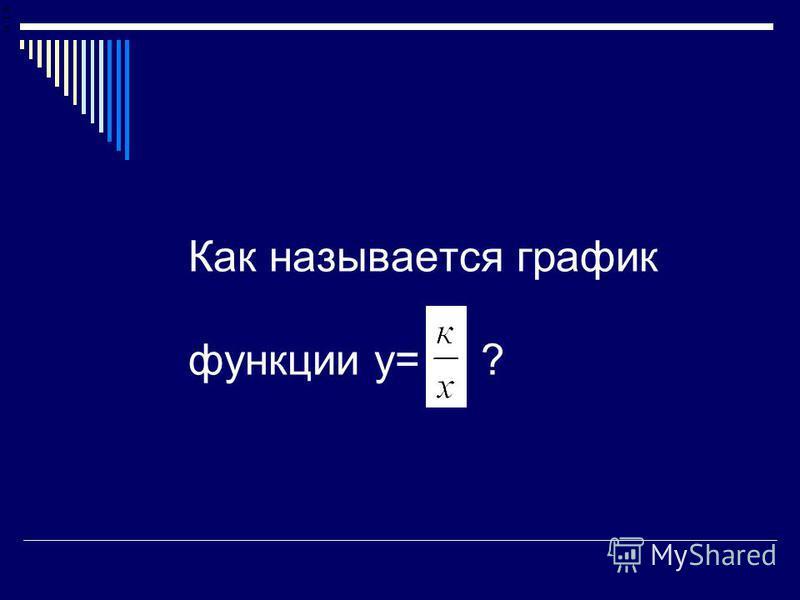 Как называется график функции у= ?