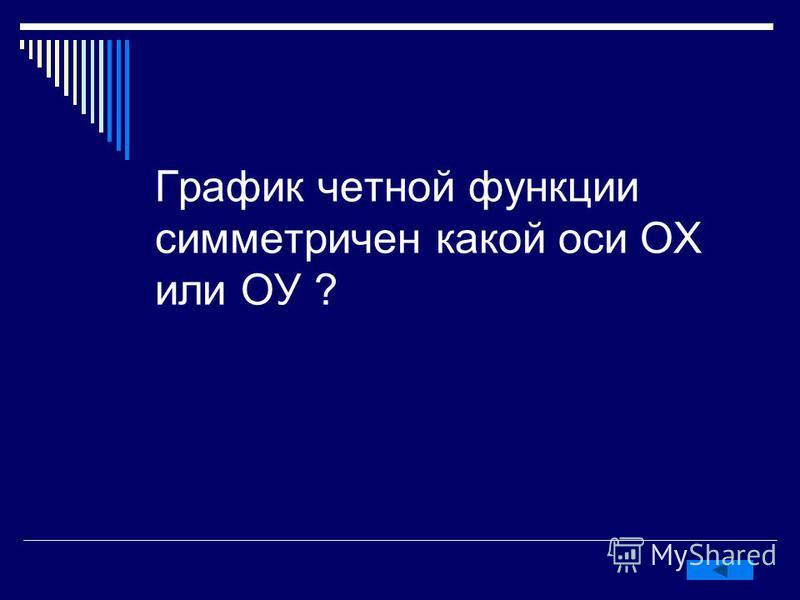 График четной функции симметричен какой оси ОХ или ОУ ?