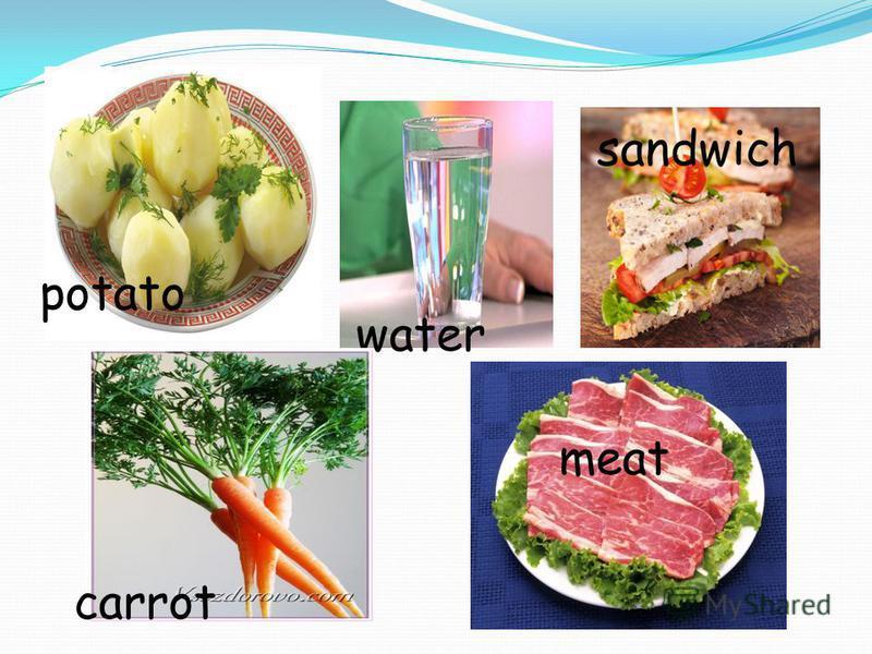 potato water sandwich carrot meat