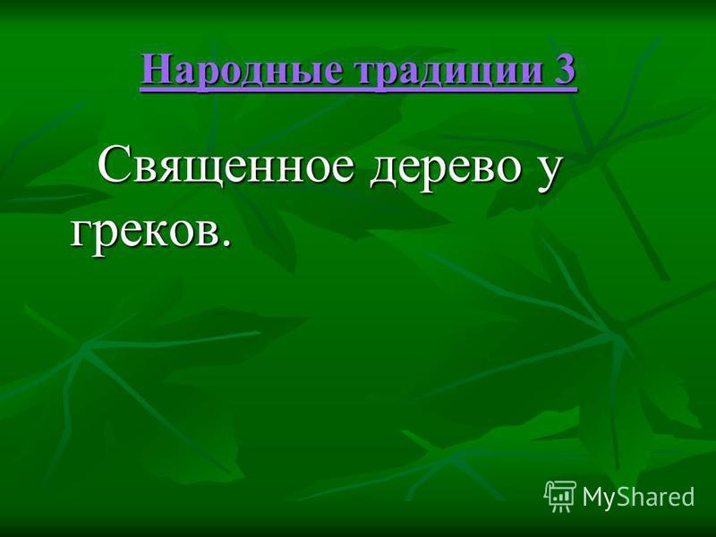 Народные традиции 3 Народные традиции 3 Священное дерево у греков. Священное дерево у греков.