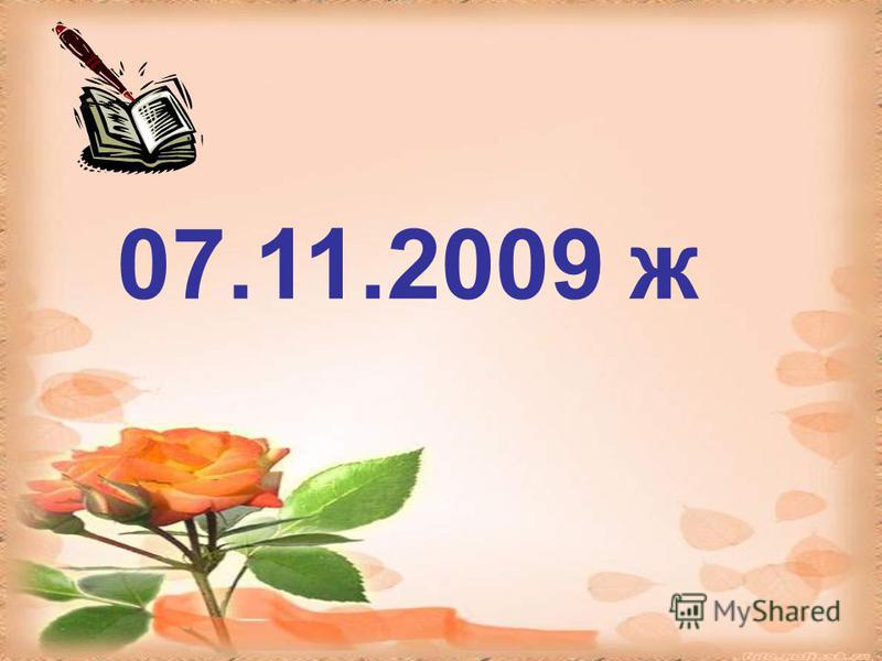 07.11.2009 ж